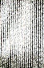 Chenille - Flauschvorhang 56 x 185 cm grau/weiss