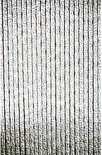 Chenille - Flauschvorhang 60 x 185 cm grau/wei?