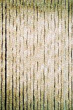 Chenille - Flauschvorhang 90 x 220 cm beige/weiß