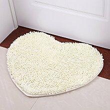 Chenille herzförmige Bett Matten/Badematte/Die Halle Schlafzimmer saugfähige Matte-G 50x60cm(20x24inch)