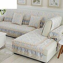 Chenille Sofa Handtuch/Einfache Moderne Sofa-matte/Sofa Setzt/Sofabezug/Sofa-handtuch/European Style Sofa Pad-F 65x150cm(26x59inch)