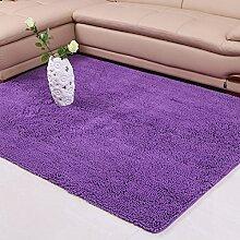 Chenille-Teppich/Moderne Wohnzimmer Schlafzimmer Tür Verdickung Teppich/ Sanitär weinselig Anti-Rutsch-Fußmatten-I 140x200cm(55x79inch)