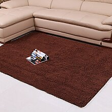 Chenille-Teppich/Moderne Wohnzimmer Schlafzimmer Tür Verdickung Teppich/ Sanitär weinselig Anti-Rutsch-Fußmatten-F 70x140cm(28x55inch)