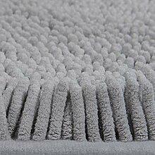 Chenille Teppich Zuhause Tür Teppich Schlafzimmer Wohnzimmer Wasseraufnahme Fußpolster Badezimmer Rutschfeste Matte , grey , 60*90cm