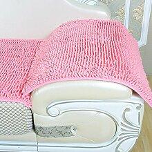Chenille verdicken Raupe Sofa Matten Echtleder Rutschfest Polster Auto Polster Schlafzimmer Teppich , pink , 10*10cm