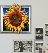 CHENOOXX 3d-Wand Aufkleber wallpaper Wohnzimmer Fernseher Sofa Hintergrund HD Selbstklebende wasserfeste Aufkleber kann Sonnenblume entfernen