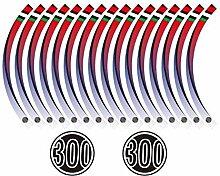 CHENWEI- Felgenrandaufkleber Vinyl-Streifen for