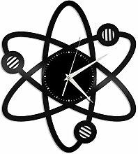 CHENWN Wissenschaft Atom Schallplatte Wanduhr,