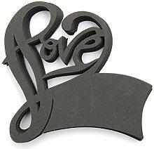 CHENXI Shop 50Love Form Hochzeit Namen Tischkarten Weinglas Cut Perlglanz-Karten Party Zubehör schwarz