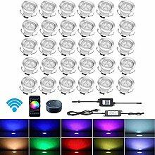 Chenxu 30 LED Spot Einbauleuchte Außen mit WLAN