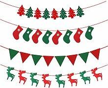 cherrboll 4 Sätze Frohe Weihnachten Hängen