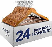 Cherry Bambus Holz Kleiderbügel w/Kerben und