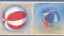 Chesapeake Blau weiß rotes Strand Flip-flops Ball