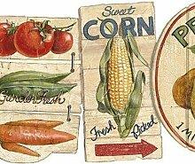 Chesapeake Vintage Obst Gemüse Schilder weiße