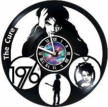 CHESNOshop The Cure Wanduhr aus Vinyl-Schallplatte