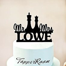 Chess Wedding Cake Topper,Cake Topper For