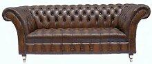 Chesterfield Balmoral Leder Sofa