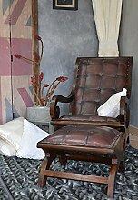 Chesterfield Kunstleder Füsse Luxus Sessel Oder Ottomane Loungesessel Edinburgh 92 x 76 x 60 cm