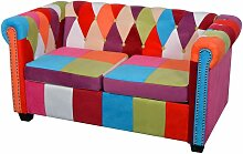 Chesterfield Sofa 2-Sitzer Stoff 09667 - Topdeal