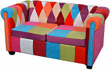 Chesterfield Sofa 2-Sitzer Stoff - Youthup