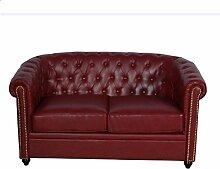Chesterfield Sofa Eton 2 Sitzer weinro