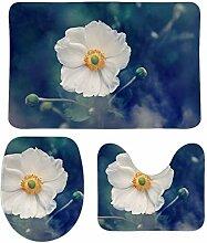 Cheyan Badematten-Set, Anemone, Blume, Pflanze,