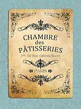 Cheyan Metal Sig Vintage Retro Französisch Poster