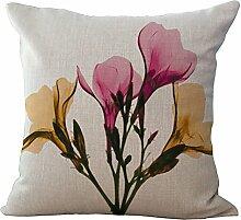 CHEZMAX Floral bedruckte Kissenhülle, Baumwolle,