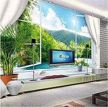 CHI Fototapete Tapete 3D Stereoskopische Fenster
