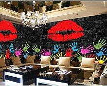 CHI Tapete Fototapete Retro Lippenstift Graffiti