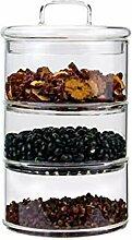 Chiatai Vorratsdosen aus Glas mit Glasdeckel,