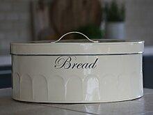Chic Antique Brotkasten Brotbox oval Vintage