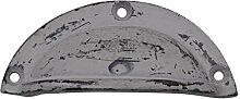 Chic Antique Griffmulde Möbelgriff Schubladengriff 4 x 9 cm antik grau Shabby