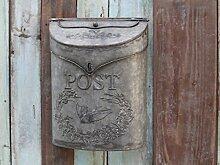 Chic Antique nostalgischer Briefkasten Zink