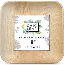 Chic Leaf Palmblatt-Teller, biologisch abbaubar,