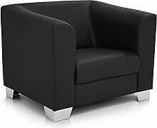 CHICAGO Sessel / Ledersessel, schwarz