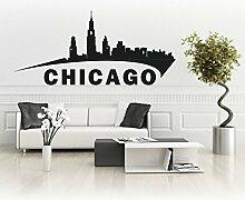 Chicago Skyline Sticker Amerika Aufkleber Stadt