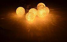 CHICCIE 6 LED Leuchtkugel Lichterkette - 150cm Ø