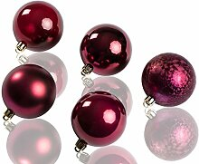 CHICCIE Weihnachtskugeln im 20 Set - 4cm Bordeaux
