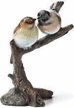 Chickadee Paar, Gartenskulptur Skulptur, Big Sky