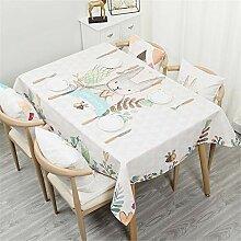 Chickwin Baumwolle und Leinen Tischdecke