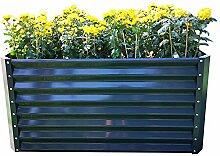 Chicreat Metallhochbeet, Gartenbeet, 90 x 120 x