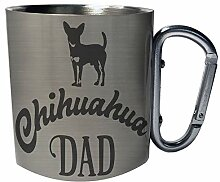 Chihuahua Dad Edelstahl Karabiner Reisebecher 11oz
