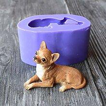 Chihuahua Hund Silikon Form 3D Fondant Schokolade