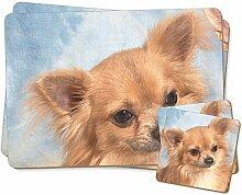 Chihuahua-Hund Zwillings Platzdeckchen und