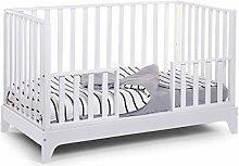 CHILDHOME Babybett Maxi Weiß 70x140cm umbaubar