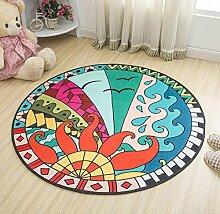 Childs Wohnzimmer Runde Teppich Cartoon Mat Korb Pad Computer Stuhl Kissen , colorful , 100cm