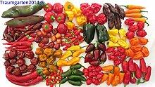 Chili Set 20 Sorten mild bis ultrascharf