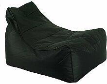 Chill Zone Black 1 Sitzsack, Lounge Chair Oxford 95 x 72 x 35/61 cm