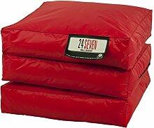 Chill Zone Red 2 Sitzsack, Wall banger 65 x 195 x 15 cm